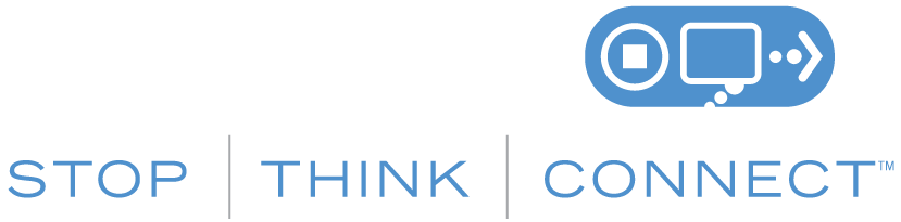 STOP. THINK. CONNECT. Logo in English